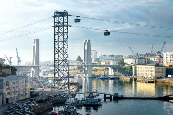 Le téléphérique urbain de Brest - © Mathieu Le Gall, Brest Métropole