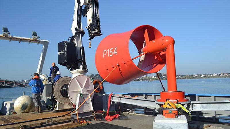 Hydrolienne P154, site de test Ria d'Étel - ©Guinard Énergies Nouvelles